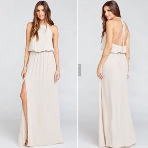 Show Me Your Mumu Heather Halter Bridesmaid Maxi